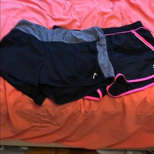 Two gym/running shorts in perfect condition. M/L